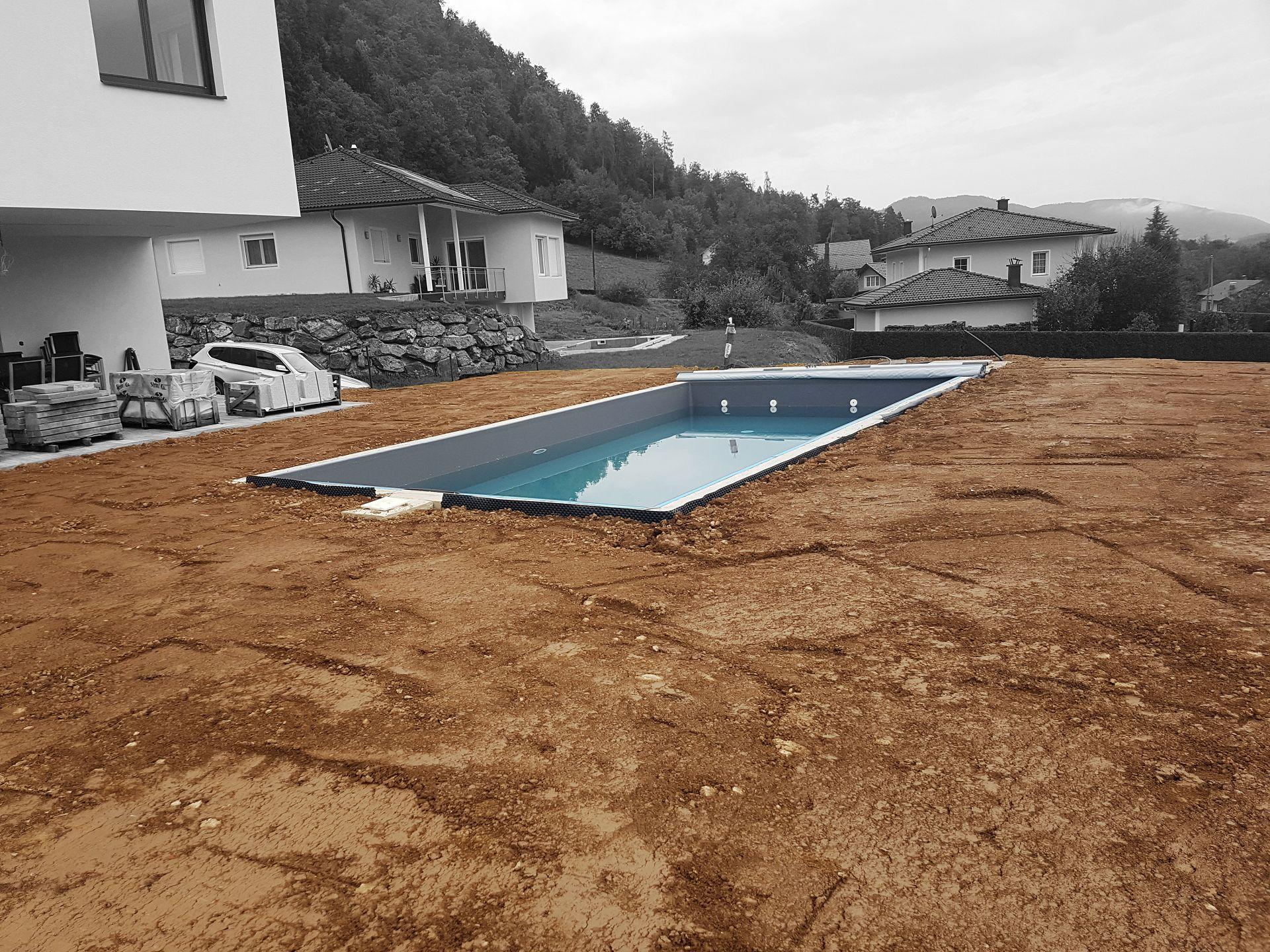Außenanlage inkl. Pool Aushub
